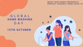 World hand washing day, health ,event Header Blog template