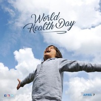 World Health Day Instagram Post Capa de álbum template