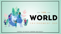 world health day template En-tête de blog
