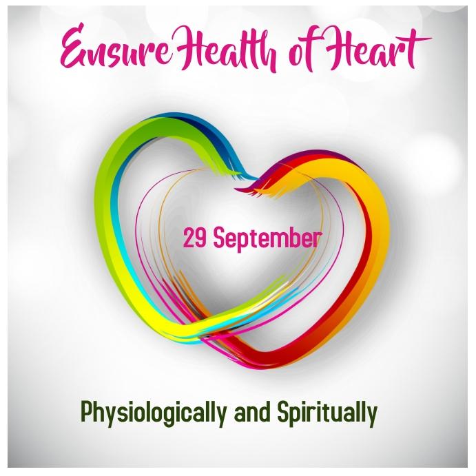world heart day, celebrate heart day Instagram-Beitrag template