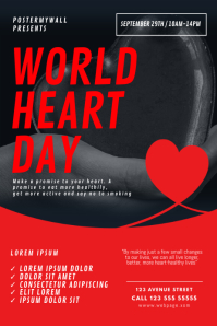 World Heart Day Flyer Design Template