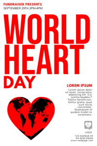 World Heart Day Flyer Template
