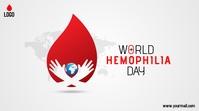 world hemophilia day โพสต์บน Twitter template