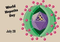 World Hepatits day ไปรษณียบัตร template