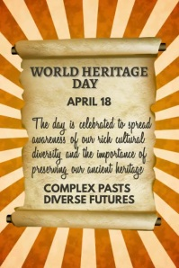 World Heritage Day Template Poster