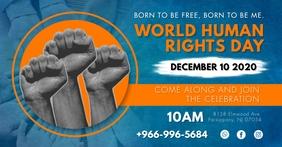 World Human Rights Week Invitation Gambar Bersama Facebook template