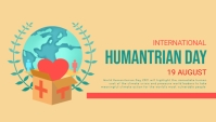World humanitarian day,event Header Blog template