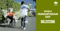 World Humanitarian day Рекламное объявление Facebook template