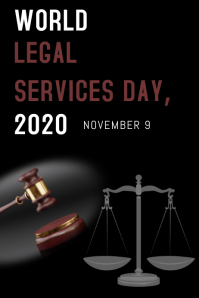 World Legal Service Day Poster template
