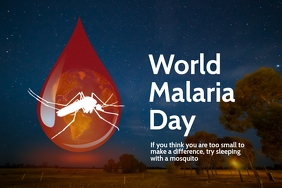 World Malaria Day Poster Template