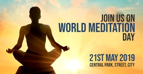 World Meditation Day Copertina evento Facebook template