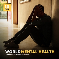 World Mental health Awareness Campaign Copertina album template