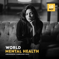 World Mental health Awareness Campaign ปกอัลบั้ม template