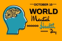 world mental health day Banner 4' × 6' template