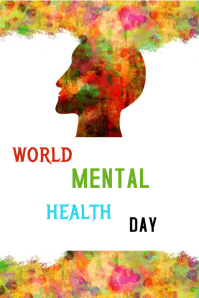 World Mental Health Day Plakat template