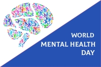 World mental health day Etiqueta template