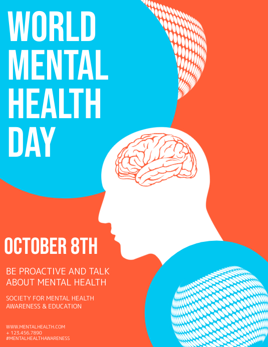 World Mental Health Day Template Postermywall