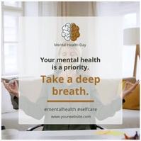World mental health day meditation practice i Instagram Plasing template