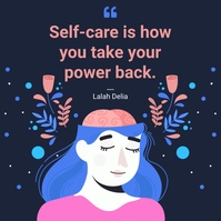 World mental health day self-care quote Instagram Plasing template