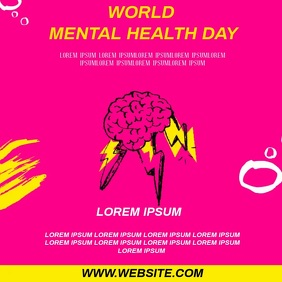 WORLD MENTAL HEALTH DAY SOCIAL MEDIA Instagram Post template
