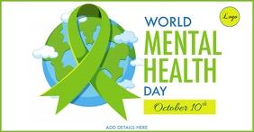 World Mental Health Day Template รูปภาพที่แบ่งปันบน Facebook