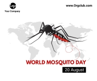 World Mosquito Day Large Rectangle Groot Reghoek template