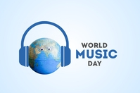 World Music Day Banner template
