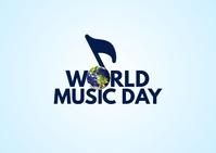 World Music Day Postkort template