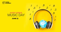world music day Iklan Facebook template