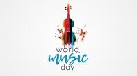 World Music Day Twitter Post template