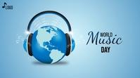 World Music Day Wpis na Twittera template
