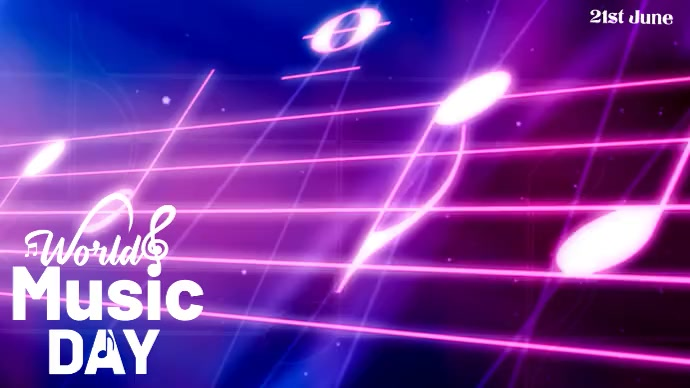 World Music Day Template YouTube Channel Cover Photo