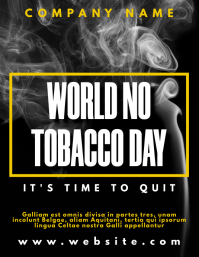 world no tobacco day campaign flyer Pamflet (VSA Brief) template