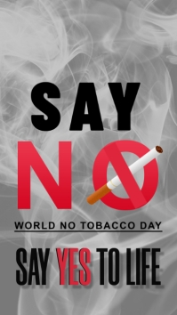 World No tobacco Day Instagram Story template