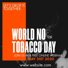 world no tobacco day design template Instagram Plasing