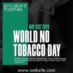 world no tobacco day design template Message Instagram