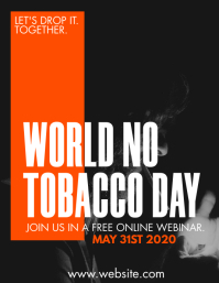 world no tobacco day webinar inspirational Pamflet (VSA Brief) template