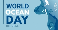 World ocean day,environment Facebook Shared Image template