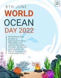 World ocean day,environment Flyer (US-Letter) template