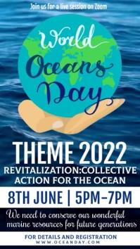 World Ocean Day Template Historia de Instagram