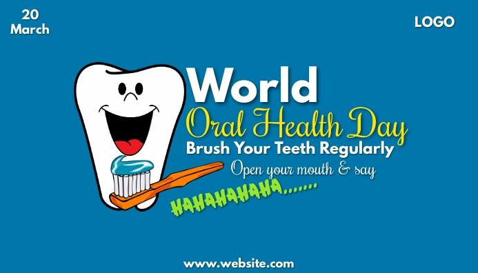 World Oral Health Day ส่วนหัวบล็อก template