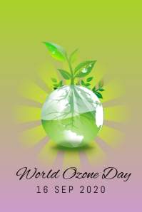 WORLD OZONE DAY Poster template