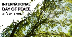 World peace day, international peace day,even Facebook Shared Image template