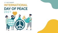 World peace day, international peace day of Koptekst blog template