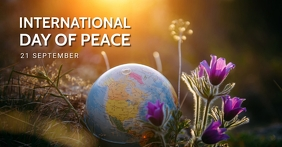 World peace day, international peace day,event auf Facebook geteiltes Bild template