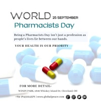 World Pharmacists Day Сообщение Instagram template