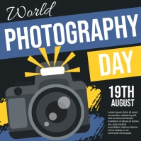 world photography day, photography Instagram Post template