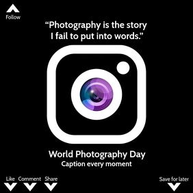 5 290 World Photography Day 2020 Customizable Design Templates Postermywall