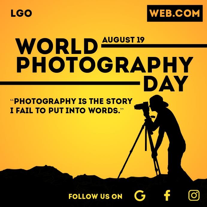 World Photography Day Template Persegi (1:1)