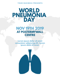 World Pneumonia Day Flyer Template